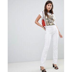 J Brand – Amelia – Medelhöga jeans med rak skärning-Vit
