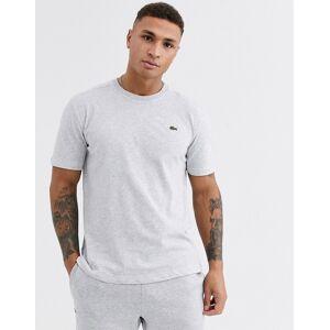 Lacoste Sport Lacoste – Gråmelerad t-shirt med logga