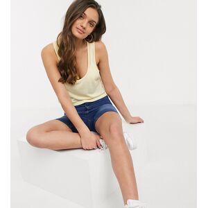 ASOS Petite ASOS DESIGN Petite – Gult kort linne i linneblandat material