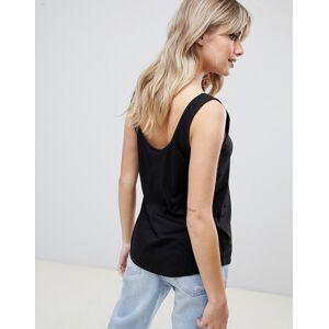 ASOS DESIGN – Ultimate – Svart linne