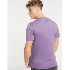 Farah – Dennis – Lila t-shirt i smal passform med logga