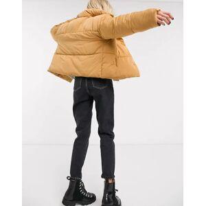 Free People weekender padded jacket in gold-Brun