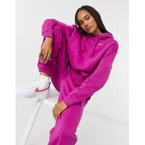 Nike – Lila huvtröja i oversize-modell med liten swoosh-logga