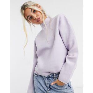 Selected Femme – Lila tröja med hög krage-Blå