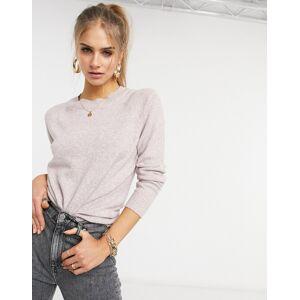 Vero Moda – Ljusrosa tröja med rund halsringning-Pink M