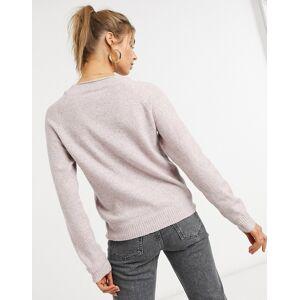 Vero Moda – Ljusrosa tröja med rund halsringning-Pink L