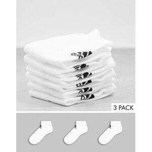 adidas performance adidas – 3-pack vita ankelstrumpor-Vit/a L
