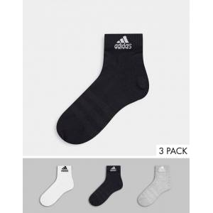 adidas performance adidas Training – 3-pack flerfärgade ankelstrumpor-Svart S