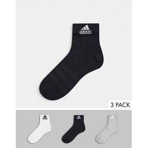 adidas performance adidas Training – 3-pack flerfärgade ankelstrumpor-Svart L
