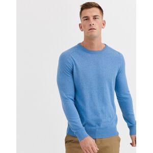 Ben Sherman – Core – Stickad bomullströja med rund halsringning-Blå