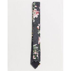 Ben Sherman – Grå blommig slips