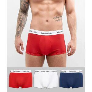 Calvin Klein – Kalsonger i bomullsstretch med låg midja 3-pack-Flerfärgad