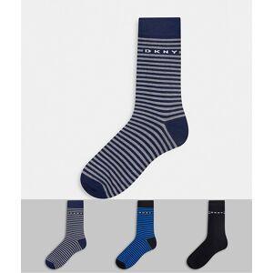 DKNY – Harbor – Mixade marinblå strumpor i 3-pack