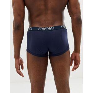 Emporio Armani – Vita/svarta/marinblå trunks med EVA-logga i 3-pack
