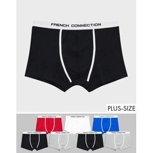 French Connection Plus – 7-pack boxershorts-Flerfärgad