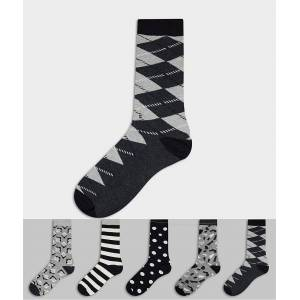Happy Socks HS by Happy Socks – 5-pack mönstrade strumpor-Flerfärgad