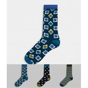 Happy Socks HS By Happy Socks – Gåvoset i 3-pack-Flerfärgad