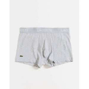Lacoste – Grå/svarta/vita trunks i 3-pack-Flerfärgad