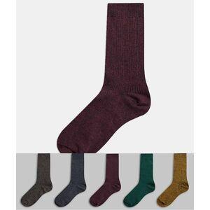 New Look – Strumpor i olika färger, 5-pack-Flerfärgad