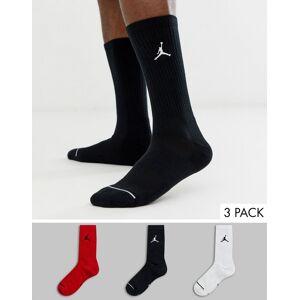 Jordan Nike – Jordan – Flerfärgade korta strumpor i 3-pack med logga