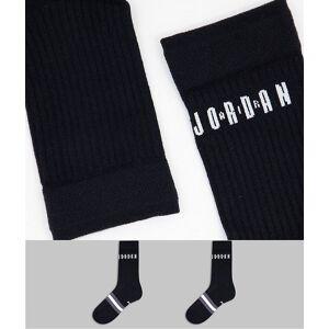 Jordan Nike – Jordan Legacy – Svarta strumpor, 2-pack-Svart/a M