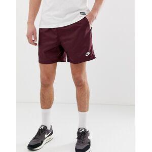 Nike – Vinröda shorts med vävd logga-Lila