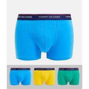 Tommy Hilfiger – Gula/blå/gröna trunks i 3-pack-Flerfärgad