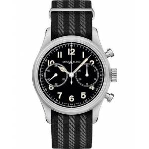 Montblanc 1858 Steel Automatic Chronograph 42mm Black Dial