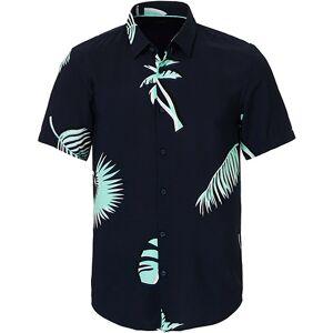 Boss Ronn Printed Short Sleeve Shirt Navy