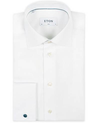 Eton Slim Fit Shirt Double Cuff White