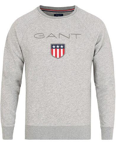 GANT Shield Crew Neck Sweatshirts Grey Melange