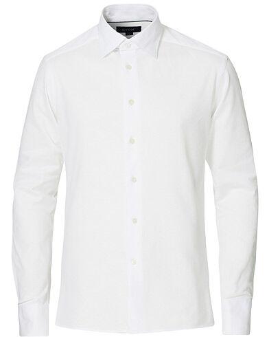 Eton Slim Fit Jersey Button Under Shirt White
