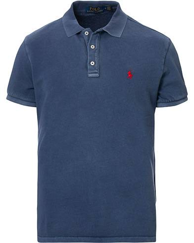 Polo Ralph Lauren Custom Slim Fit Spa Terry Polo Cruise Navy