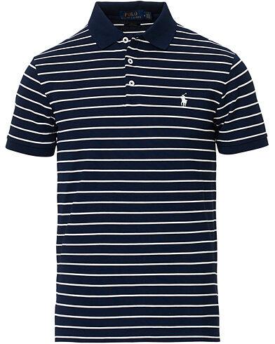 Polo Ralph Lauren Slim Fit Stretch Mesh Stripe Polo White/Navy