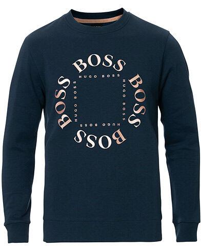 Boss Athleisure Salbo Circle Sweatshirt Navy/Rosé Gold