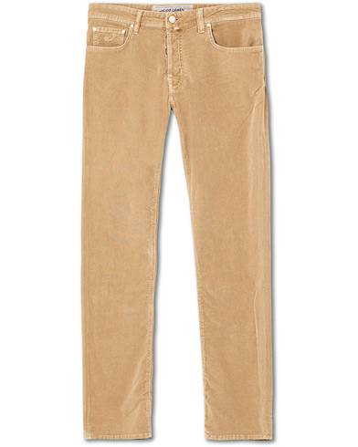 Jacob Cohën 5-Pocket Corduroy Trousers Beige