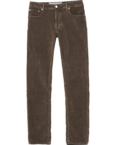 Jacob Cohën 5-Pocket Corduroy Trousers Brown