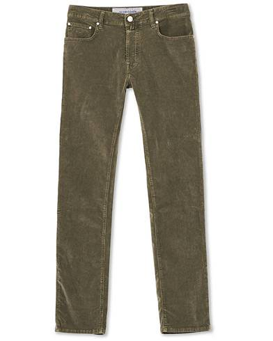 Jacob Cohën 5-Pocket Corduroy Trousers Green