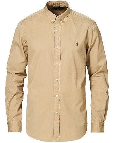 Polo Ralph Lauren Slim Fit Twill Button Down Shirt Coastal Beige