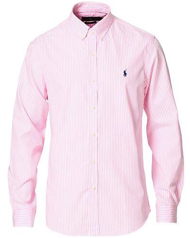 Polo Ralph Lauren Slim Fit Poplin Striped Button Down Shirt Pink/White