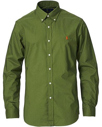 Polo Ralph Lauren Slim Fit Poplin Button Down Shirt Supply Olive