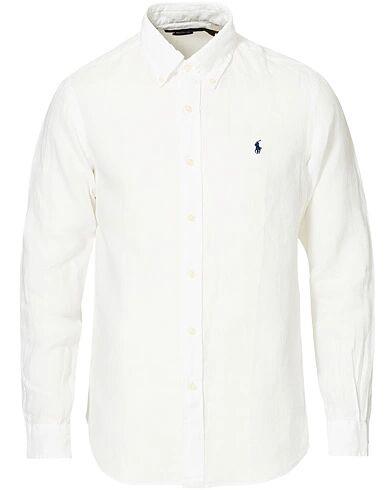 Polo Ralph Lauren Custom Fit Linen Button Down Shirt White
