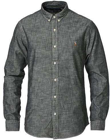 Polo Ralph Lauren Slim Fit Chambray Button Down Shirt Light Grey