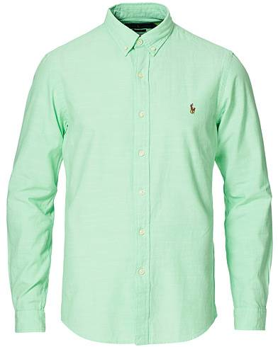 Polo Ralph Lauren Slim Fit Chambray Button Down Shirt Spring Lime