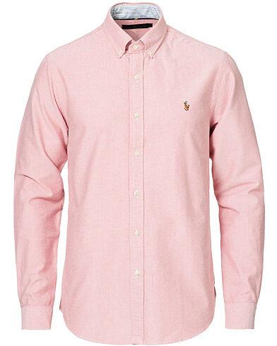 Polo Ralph Lauren Slim Fit Oxford Button Down Shirt Sunrise Red