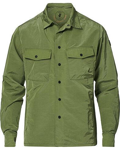 Save The Duck Elton Crinkle Nylon Shirt Jacket Cactus Green
