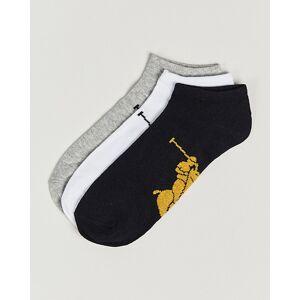 Polo Ralph Lauren 3-Pack Sneaker Socks Grey/Black/White