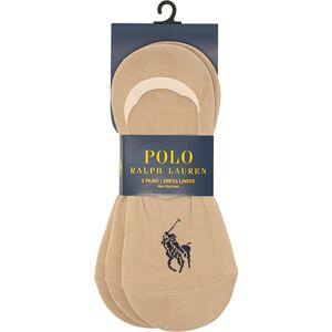 Polo Ralph Lauren 3-Pack No Show Big Pony Pony Socks Beige