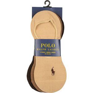 Polo Ralph Lauren 3-Pack No Show Dress Liners Pony Socks Beige