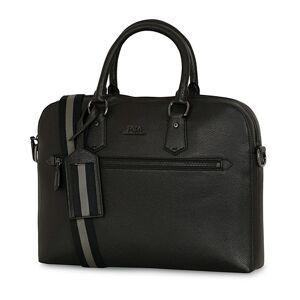 Polo Ralph Lauren Pebbled Leather Briefcase Black